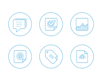 Flat Out line Icons, Free PSD