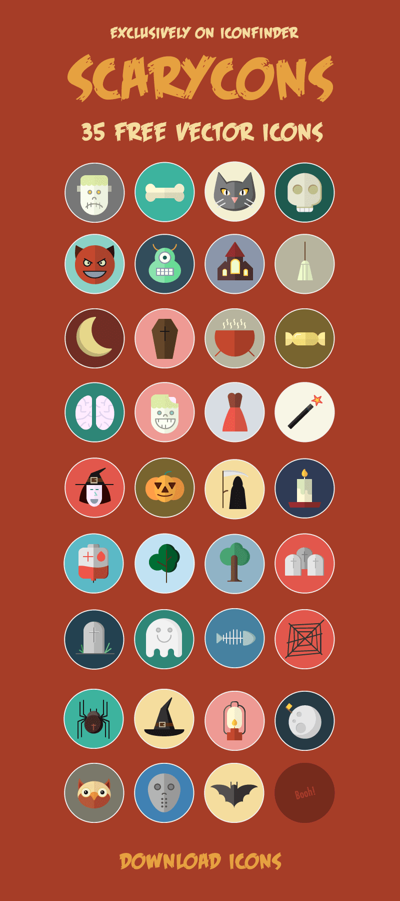 35 Free Vector Halloween Icons тАУ Exclusively on Iconfinder