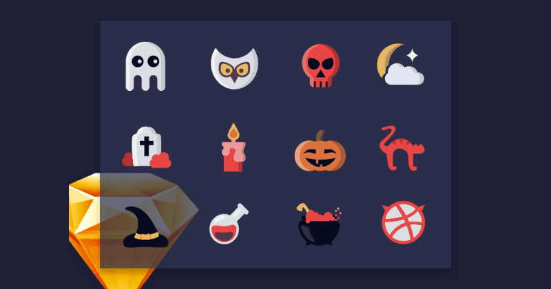 Halloween Icons Using Sketch