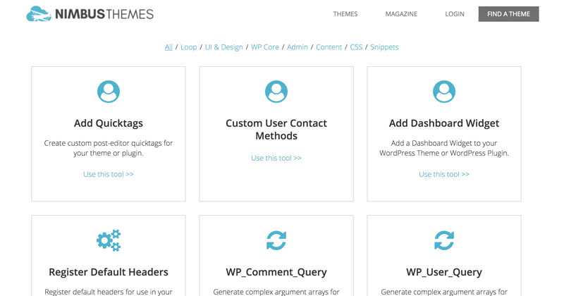 WordPress Code Generators