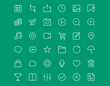 Free 48px icons PSD