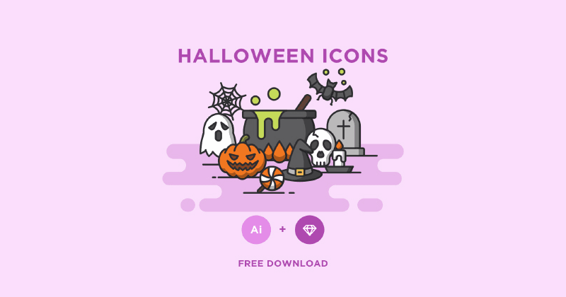 Halloween Icons for Illustrator & Sketch