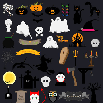 Free Halloween Vector Icon Pack