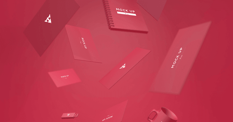 6 Business Cards Mock Up - FREE PSD