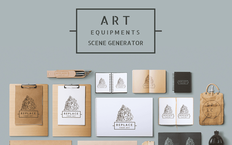 FREE Art Equipments Scene Generator