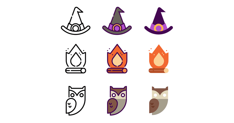 Icon Pack for Free: Halloween Collection