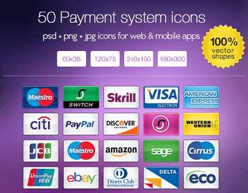 50 FREE Payment system icons
