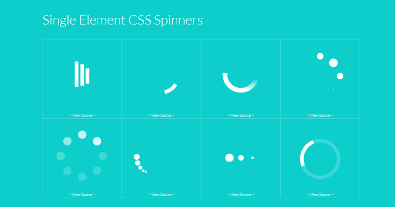 Single Element CSS Spinners