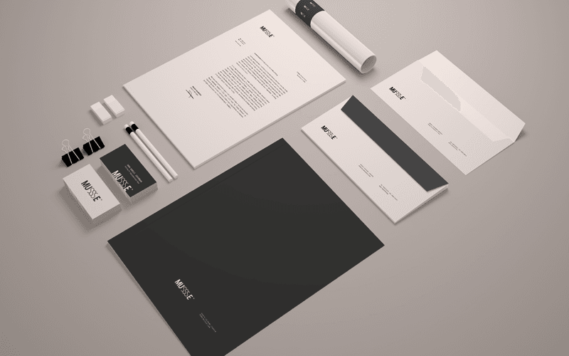 Free Stationary Mockup Template (Psd Smart Object)