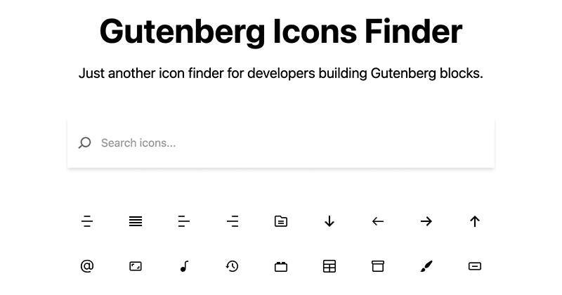 уАМGutenberg Icons FinderуАНуБочФ╗щЭвуВдуГбуГ╝уВ╕