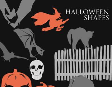 Halloween Photoshop Shapes